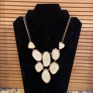 Stella & Dot Fiona rhinestone cascade necklace GUC